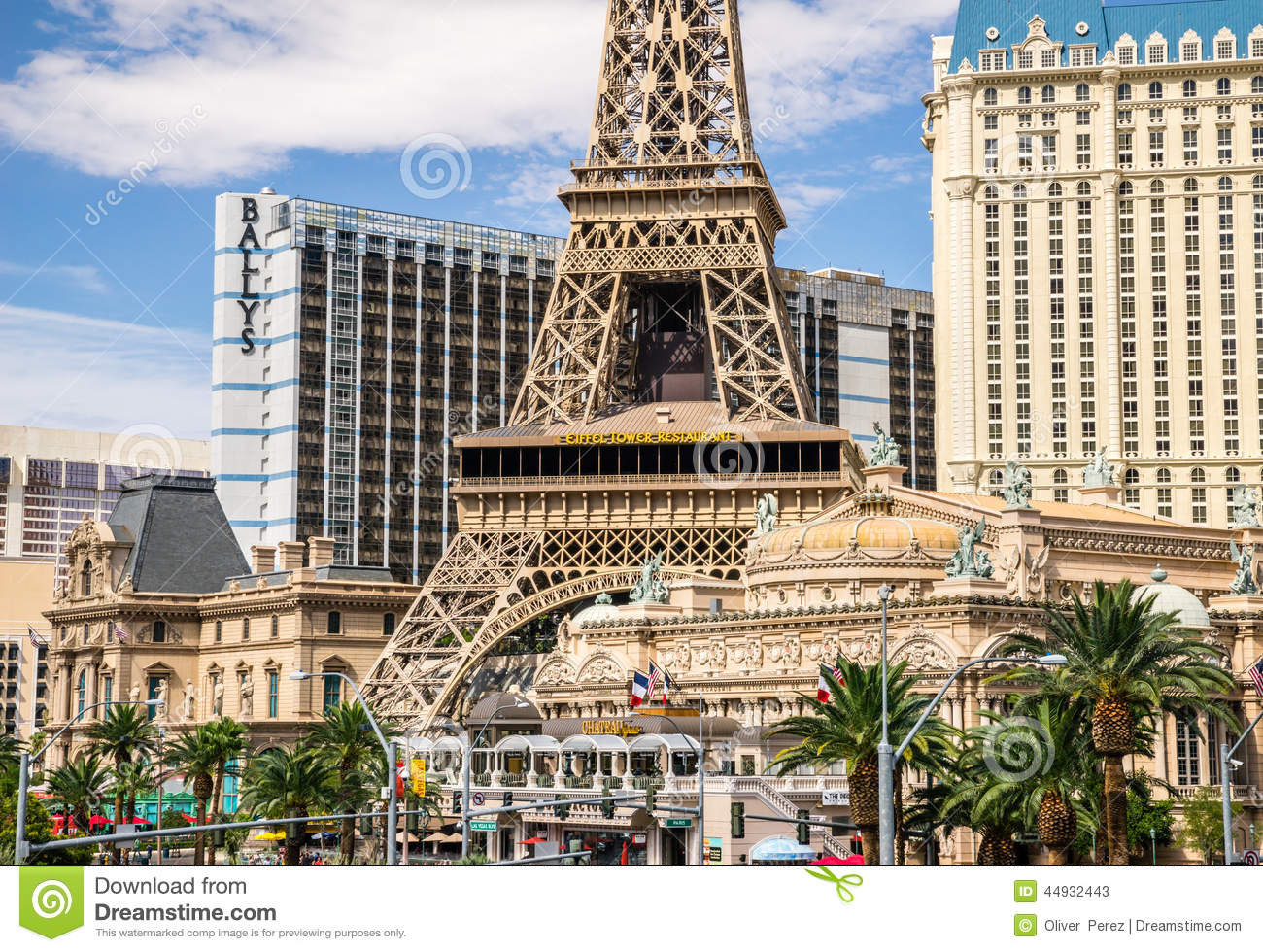 Eiffel Tower Restaurant In Las Vegas Editorial Stock Photo Image 44932443