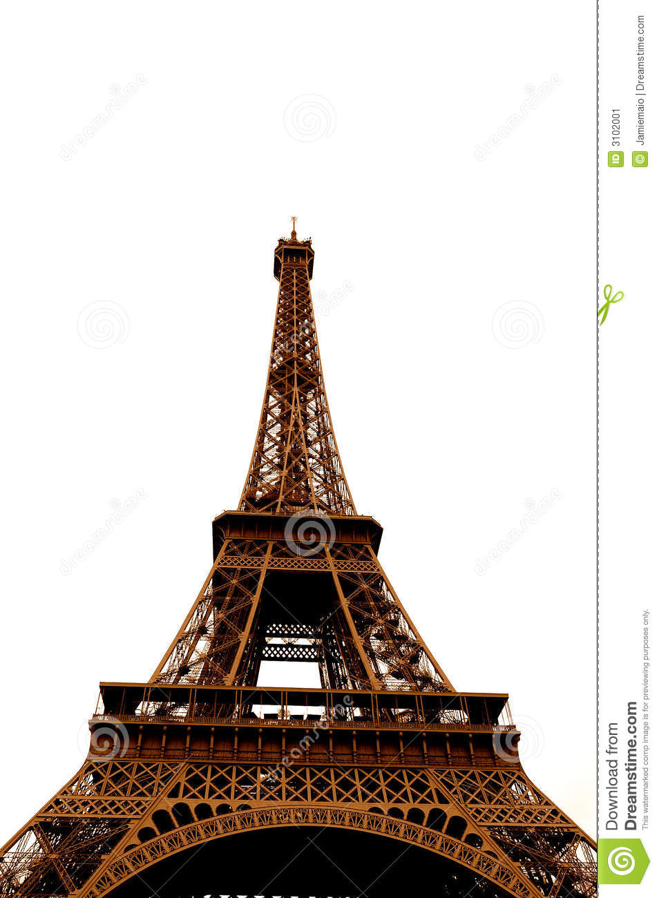 Uncategorized Eiffel Tower Pictures To Color eiffel tower in single color stock image 3102001 royalty free photo download color
