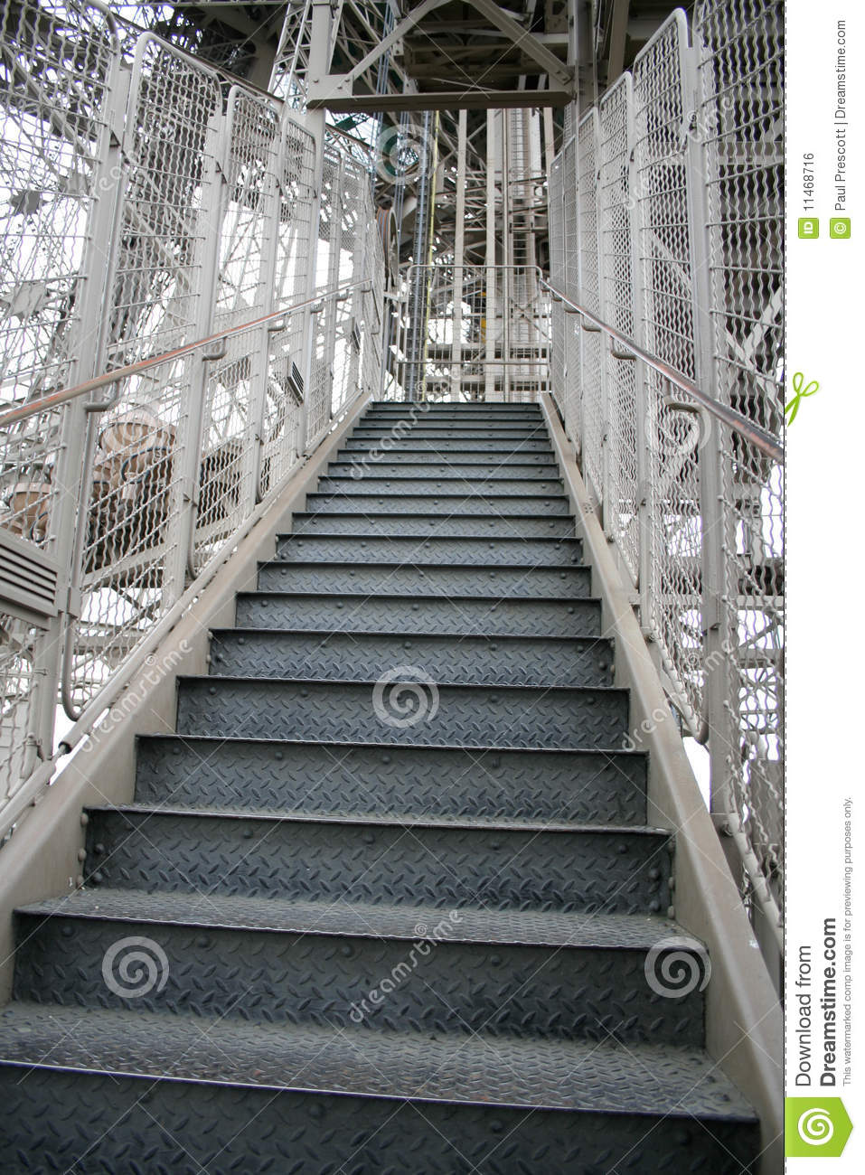 Eiffel Tower Stairs : Eiffel tower stairs stock photo image of outdoors