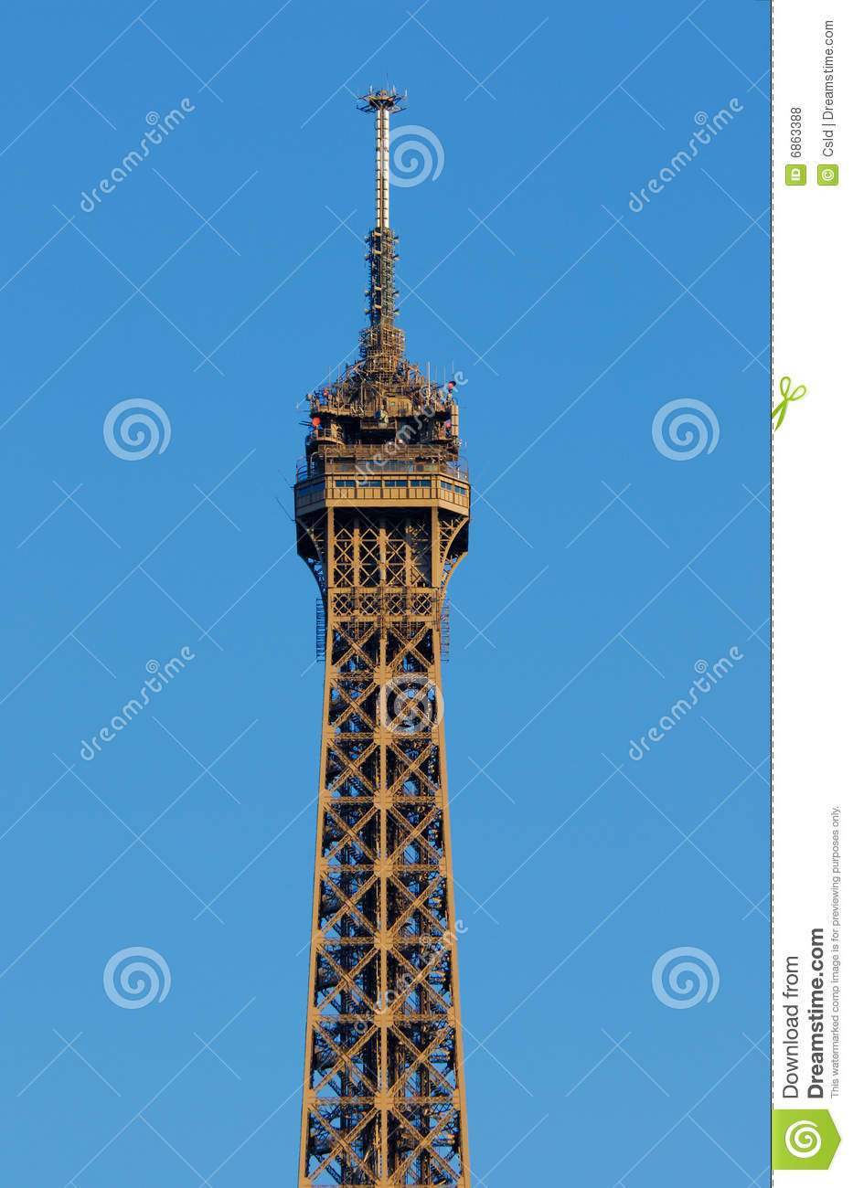 Eiffel tower top floor stock photo image of mars for Floors of the eiffel tower