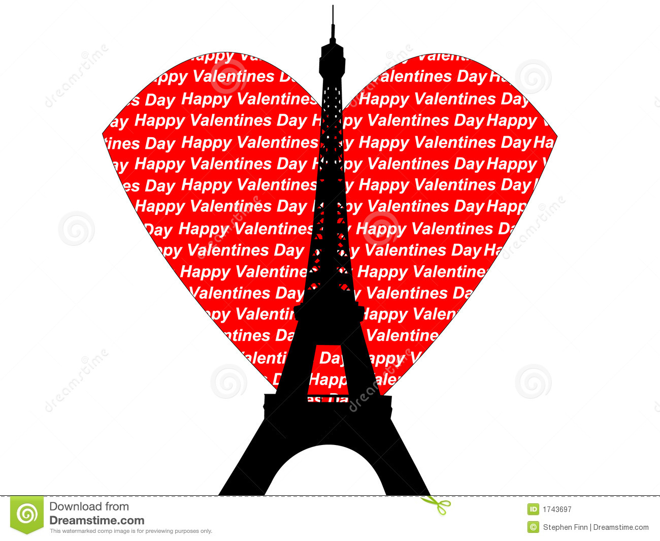 Torre Eiffel Dibujo Animado A Color: Eiffel Tower Valentines Royalty Free Stock Photography