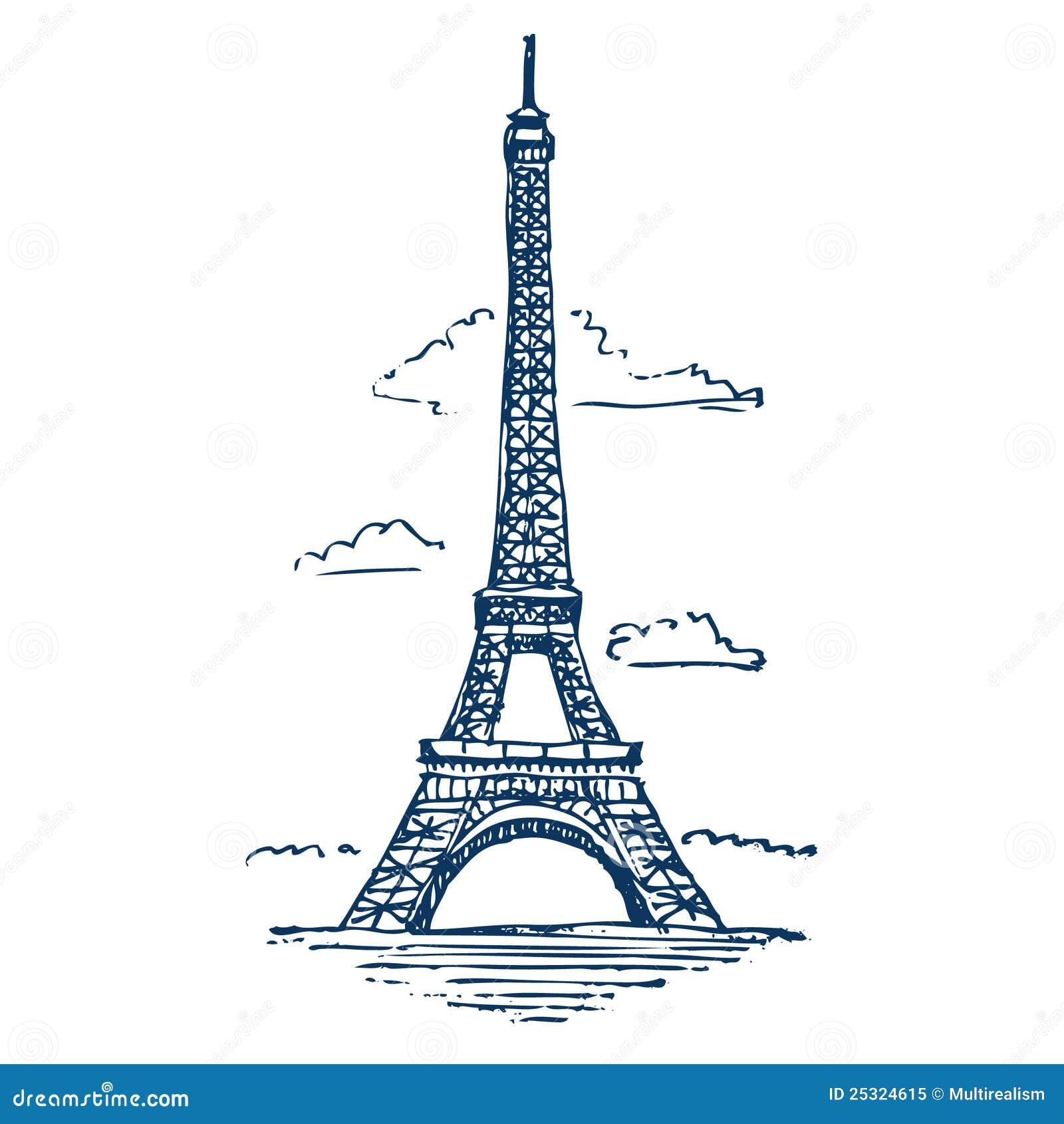 eiffelturm in paris lizenzfreies stockfoto bild 25324615. Black Bedroom Furniture Sets. Home Design Ideas