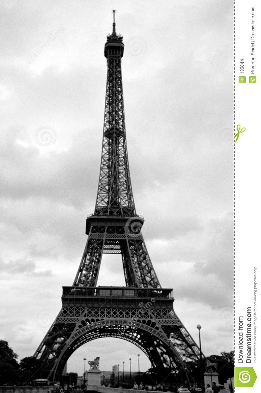 Eiffelturm In Paris  Frankreich Stockfoto