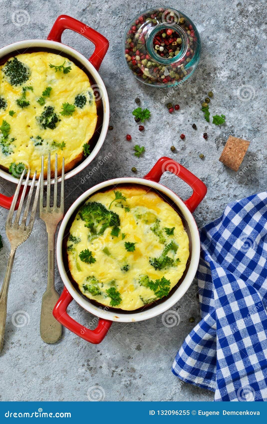 Eigengemaakte braadpan met broccoli en kaas