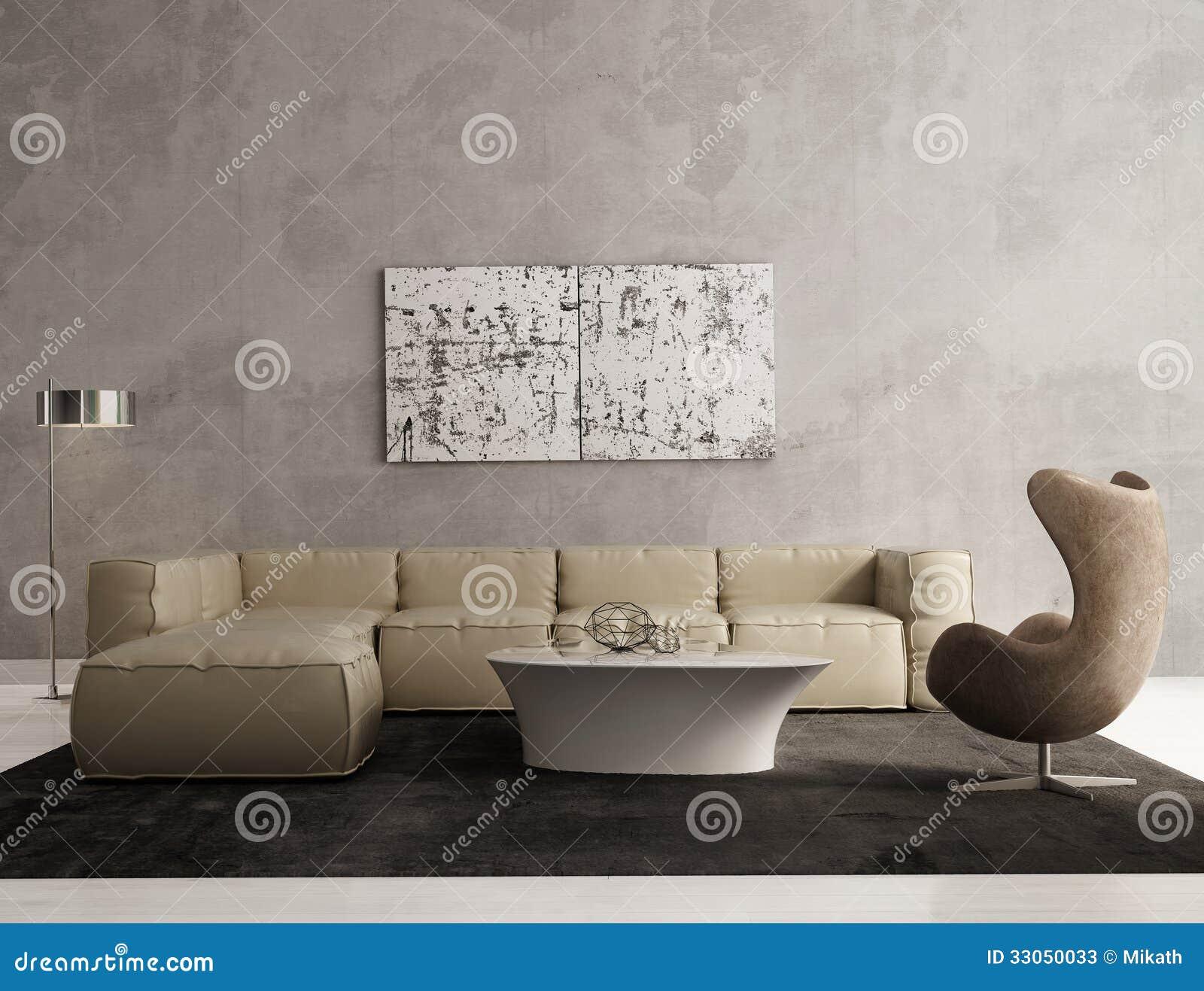 Eigentijds grijs woonkamerbinnenland stock afbeelding afbeelding 33050033 - Deco eigentijds ...