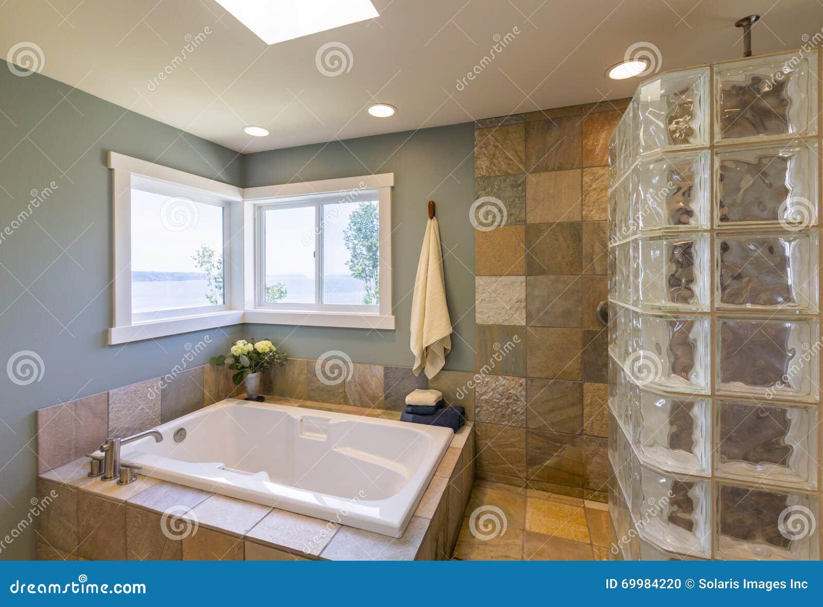 Eigentijds home spa badkamersbinnenland voor de betere