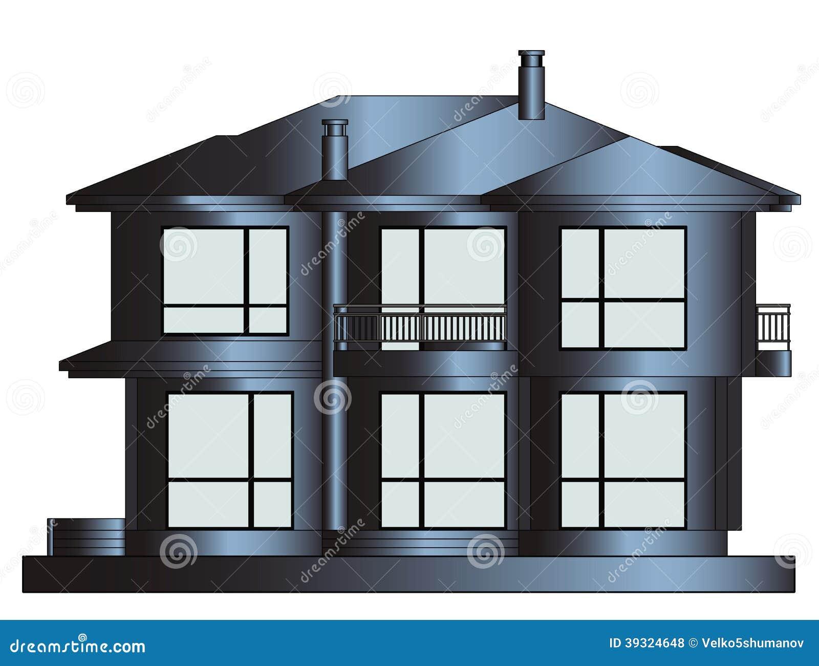 Eigentijds huis stock illustratie afbeelding bestaande uit agent 39324648 - Exterieur ingang eigentijds huis ...