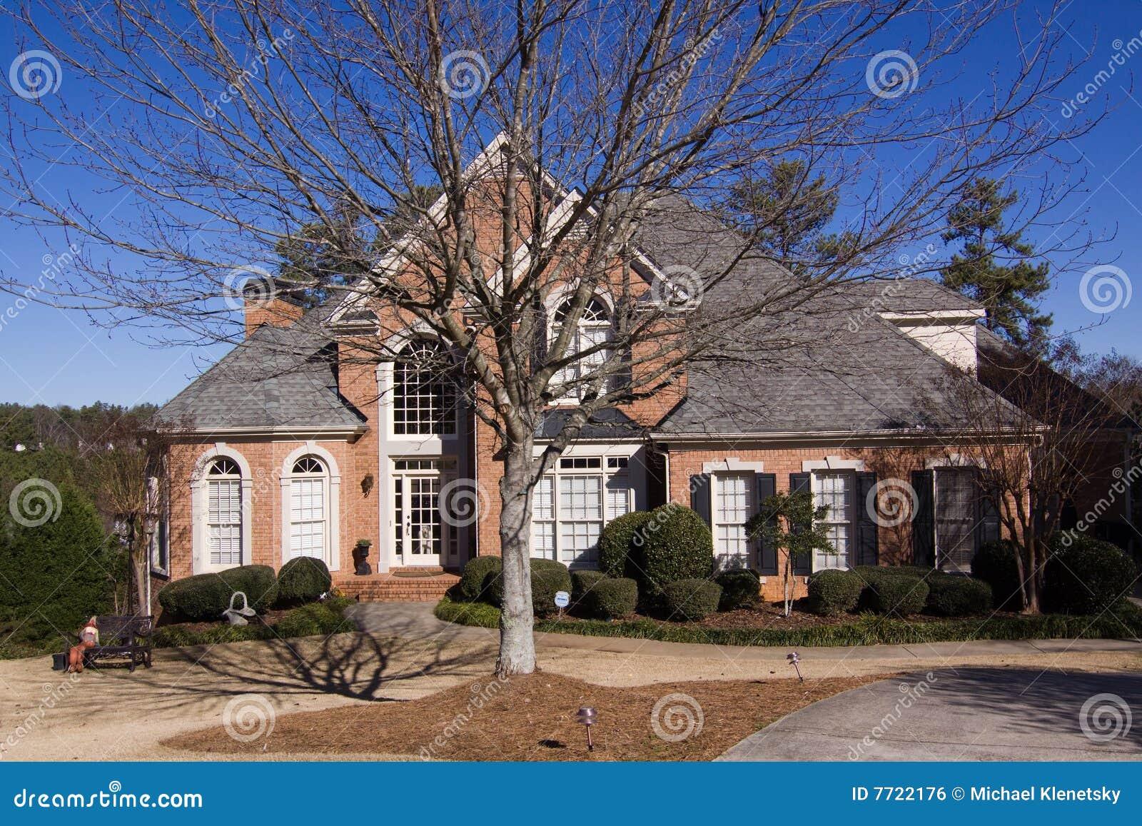 eigentijds huis royalty vrije stock afbeelding afbeelding 7722176