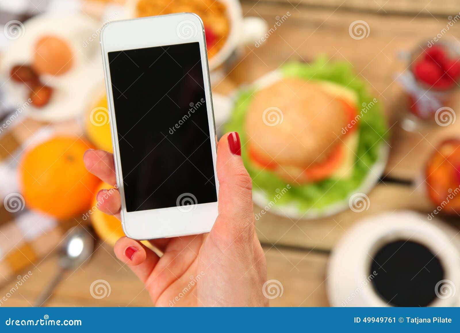 Eigentijds ontbijt stock afbeelding afbeelding bestaande uit