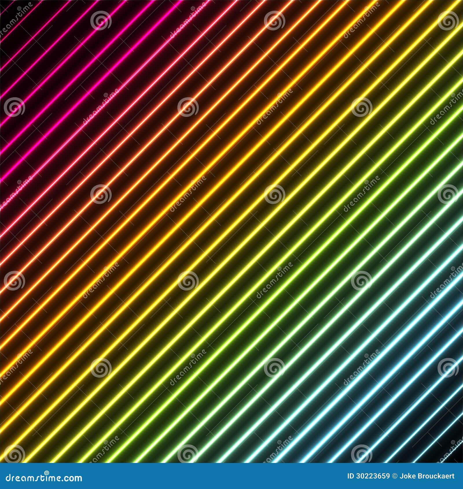 Eigentijdse achtergrond met de kleuren van het regenboogneon