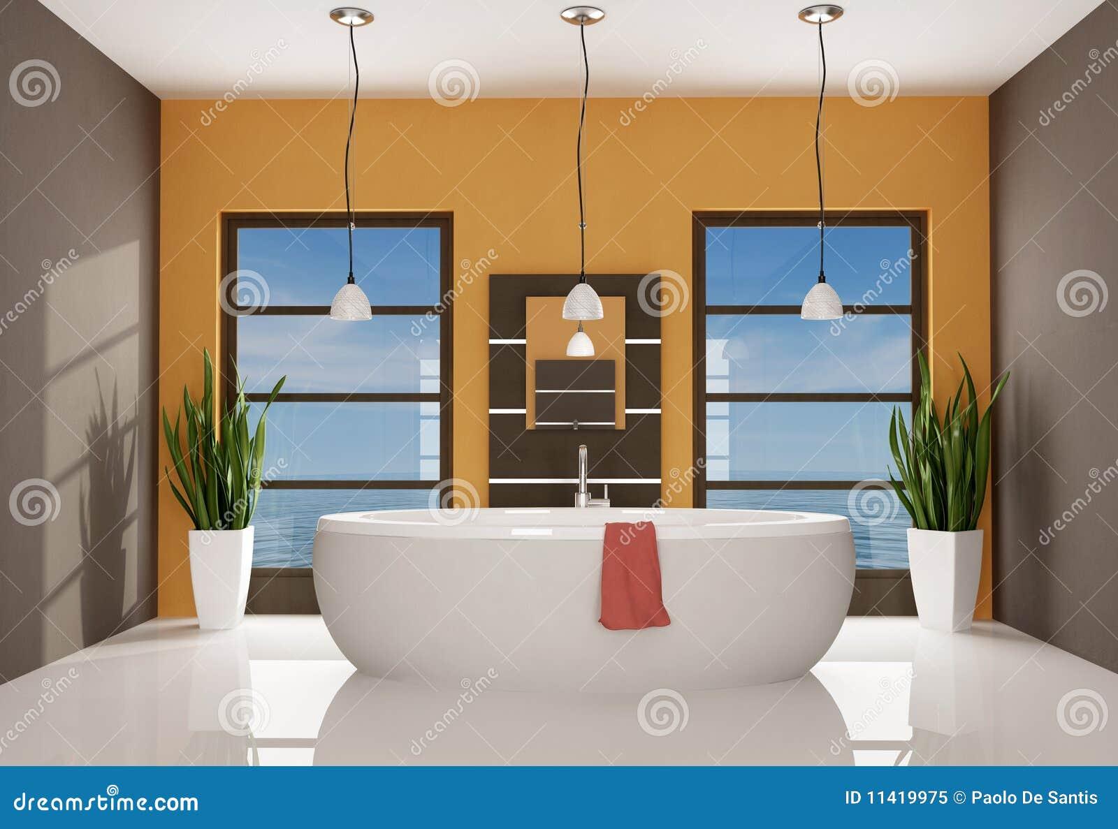 Eigentijdse badkamers stock illustratie afbeelding bestaande uit kraan 11419975 - Mooie eigentijdse badkamer ...