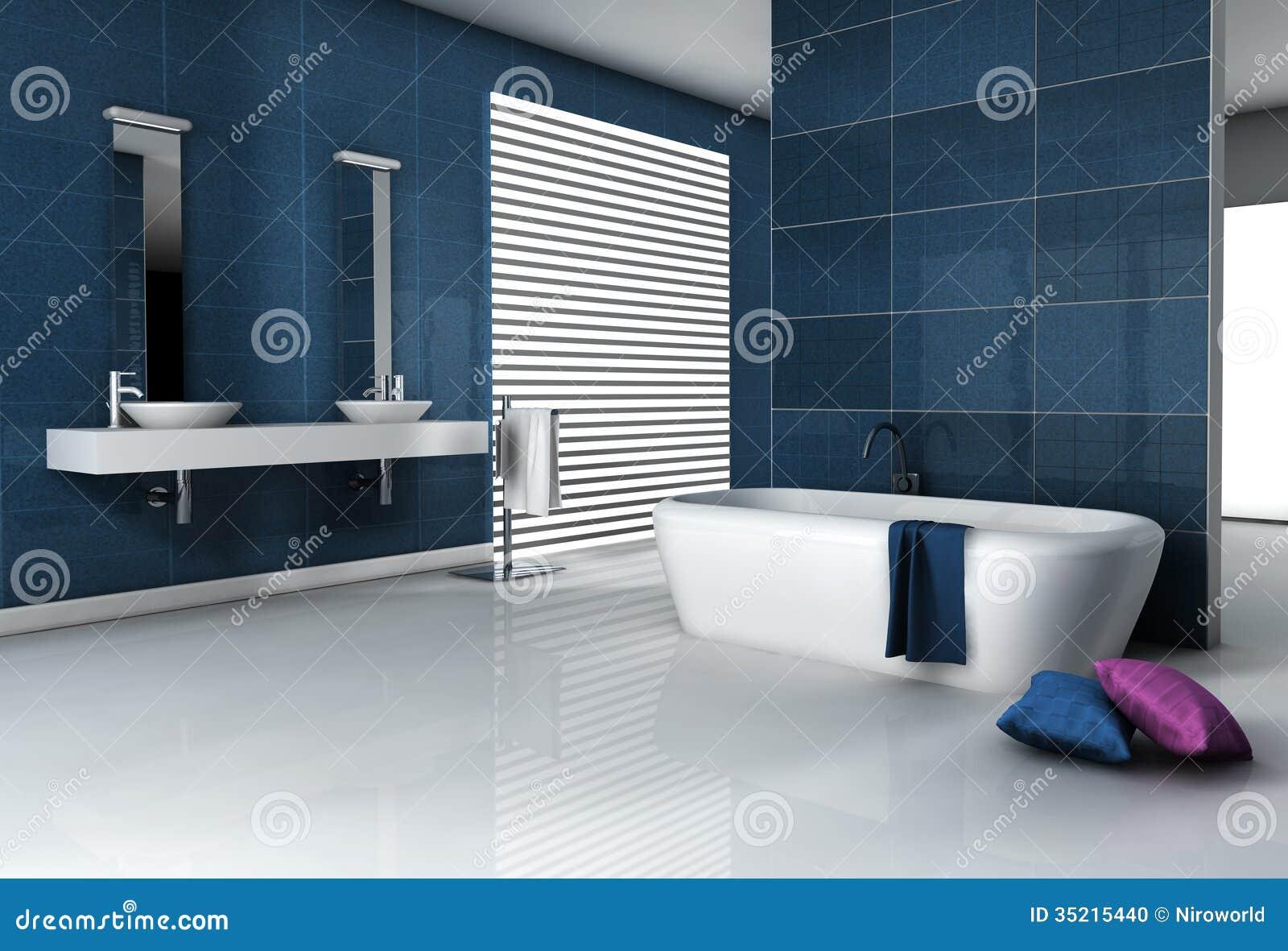 Eigentijdse badkamers stock illustratie afbeelding bestaande uit ontwerp 35215440 - Mooie eigentijdse badkamer ...