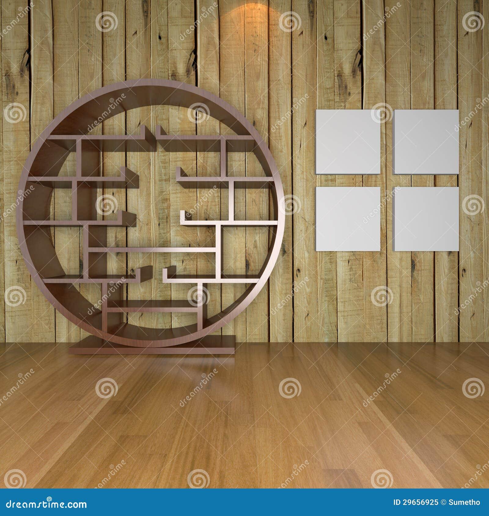 Eigentijdse minimalistische lege woonkamer stock illustratie afbeelding 29656925 - Eigentijdse muur ...