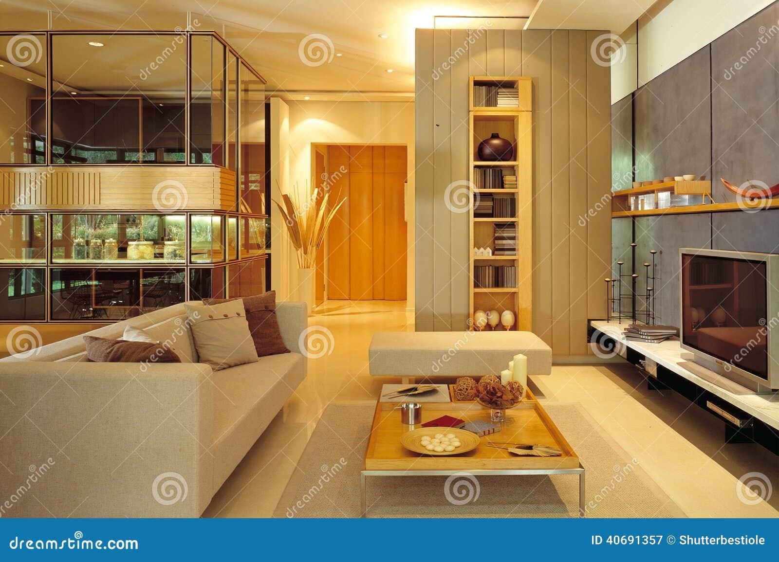 Eigentijdse woonkamer stock afbeelding afbeelding bestaande uit