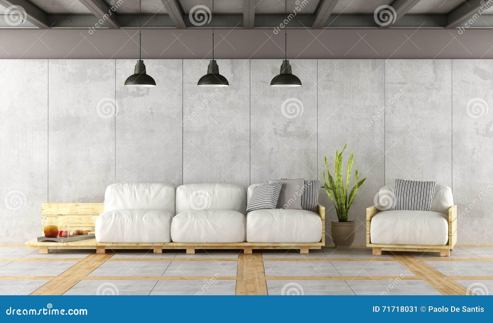 Eigentijdse woonkamer stock illustratie. illustratie bestaande uit