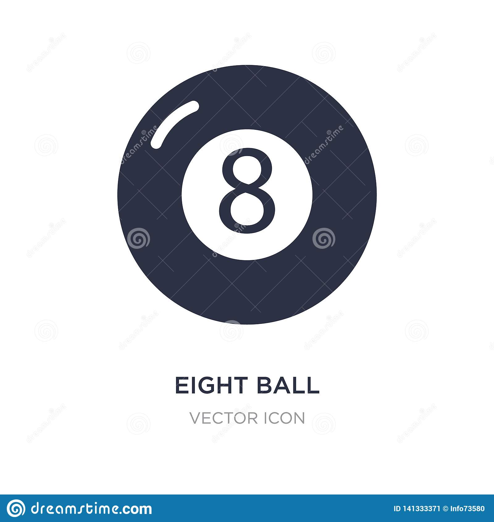 eight ball icon on white background. Simple element illustration from Entertainment and arcade concept