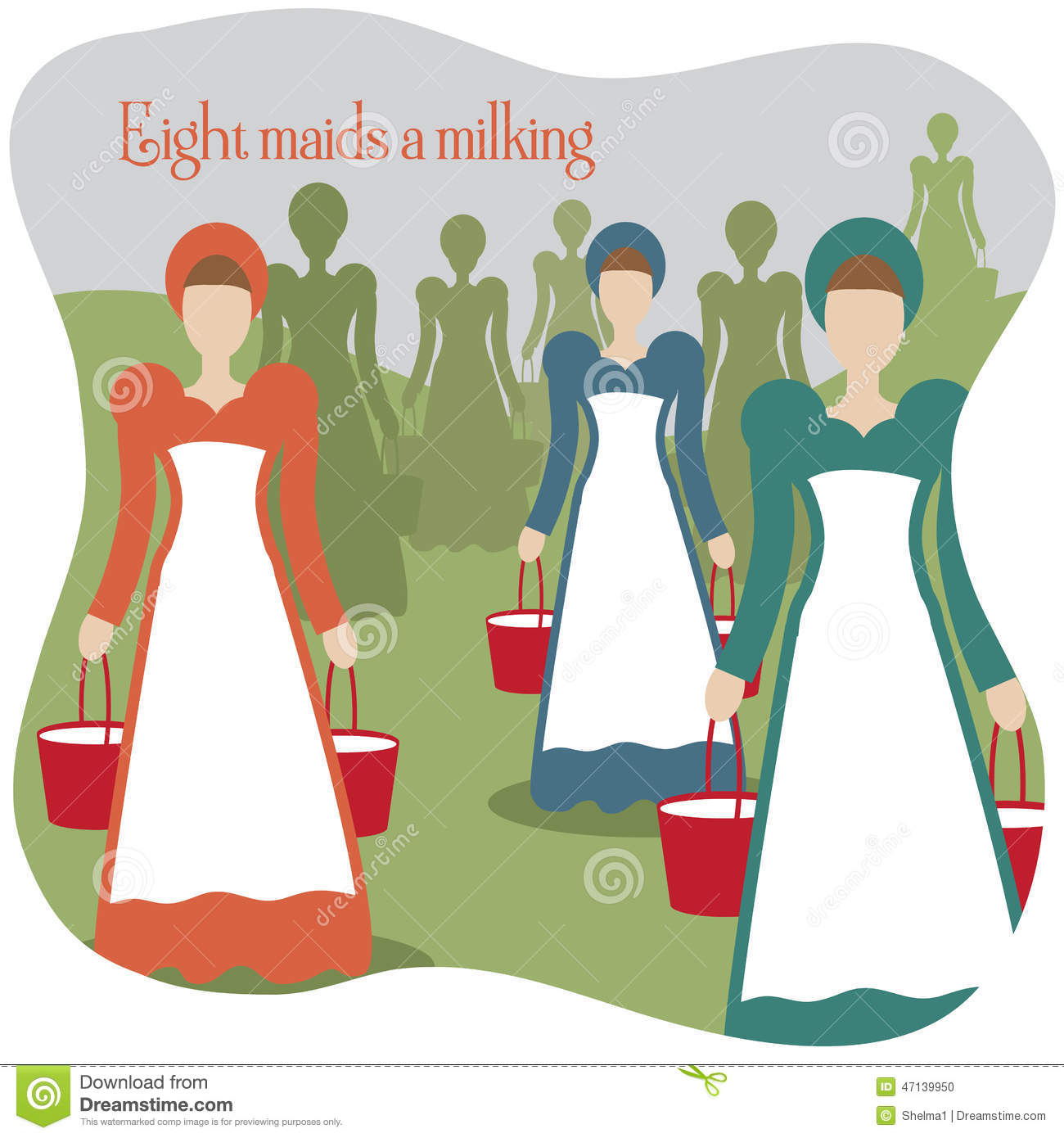 maids a milking 12 days of christmas
