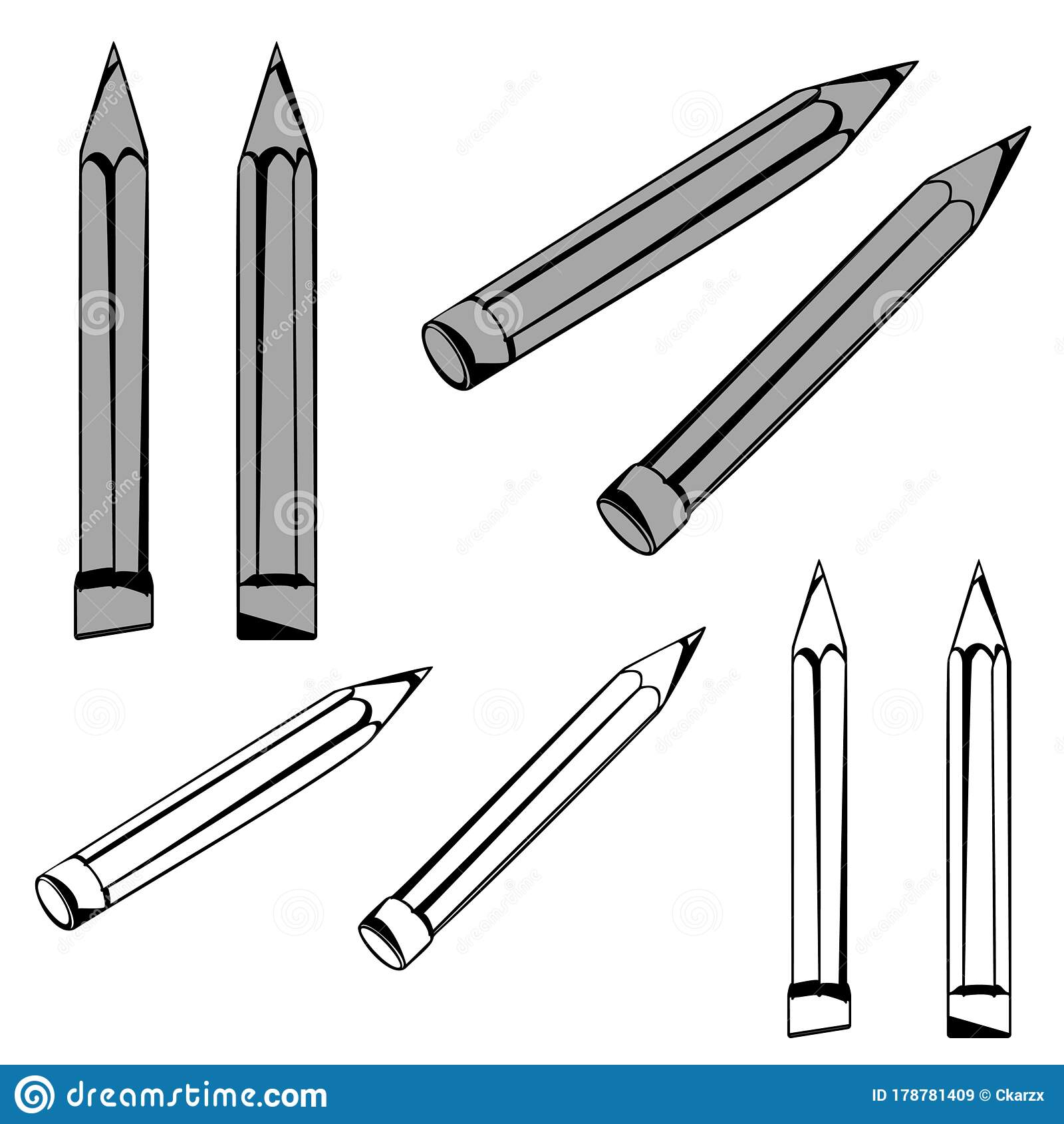 eight pencils stock illustrations 50 eight pencils stock illustrations vectors clipart dreamstime