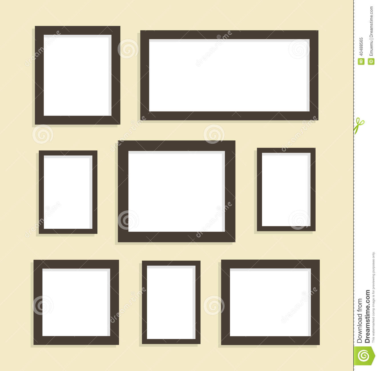 Eight picture frames stock vector. Illustration of picture - 40488565