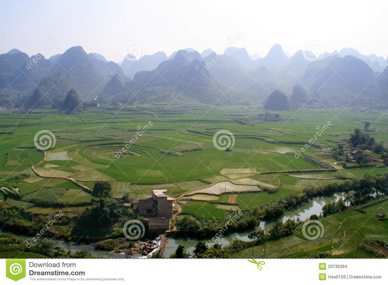 Xingyi China  city photo : Eight trigram Cropland,Xingyi,China Stock Images Image: 29736394