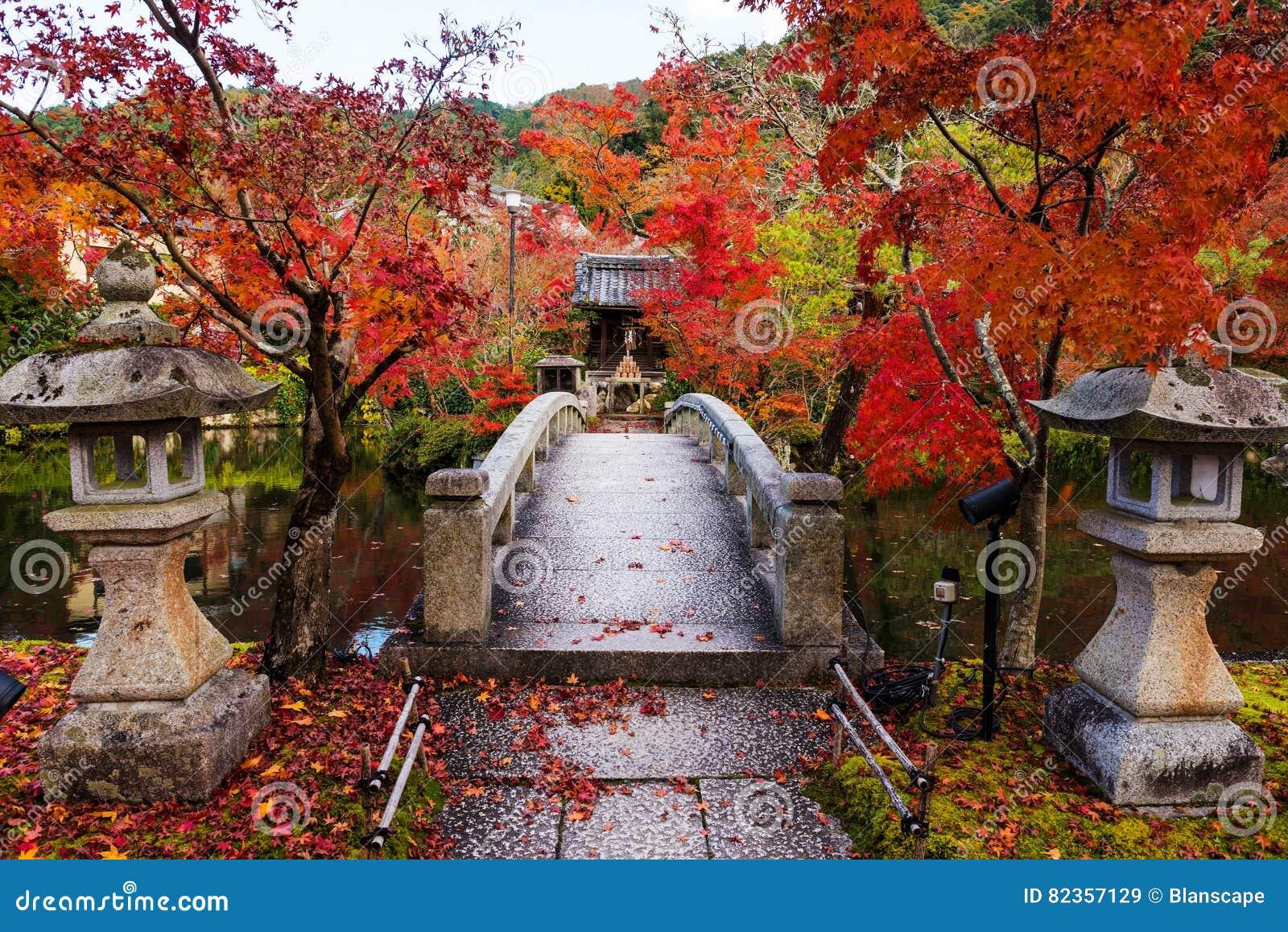 Eikando With Autumn Foliage, Kyoto Stock Image - Image of bridge ...