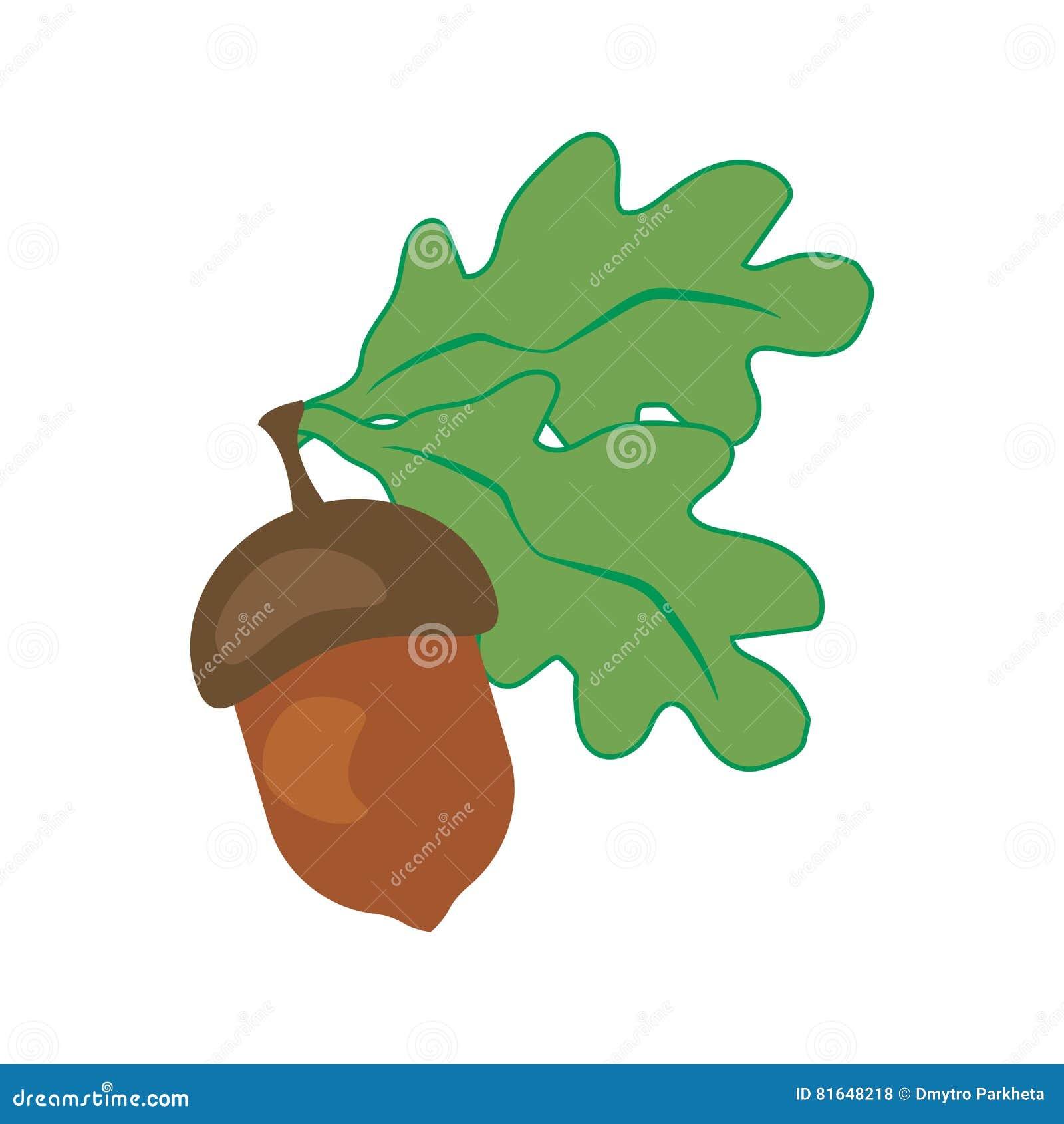 Eiken blad en eikel
