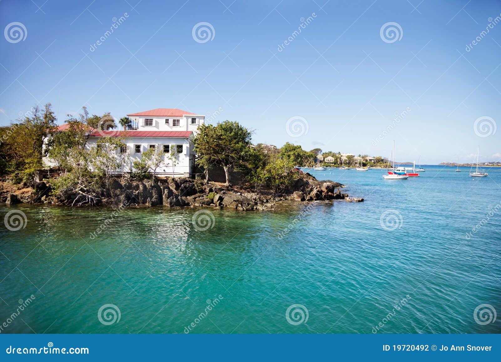 Eiland in Baai Cruz