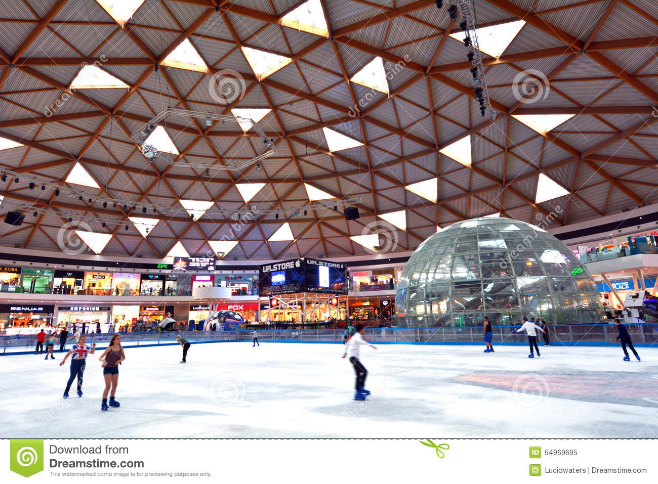 Eilat Ice Park and Mall in Eilat Israel