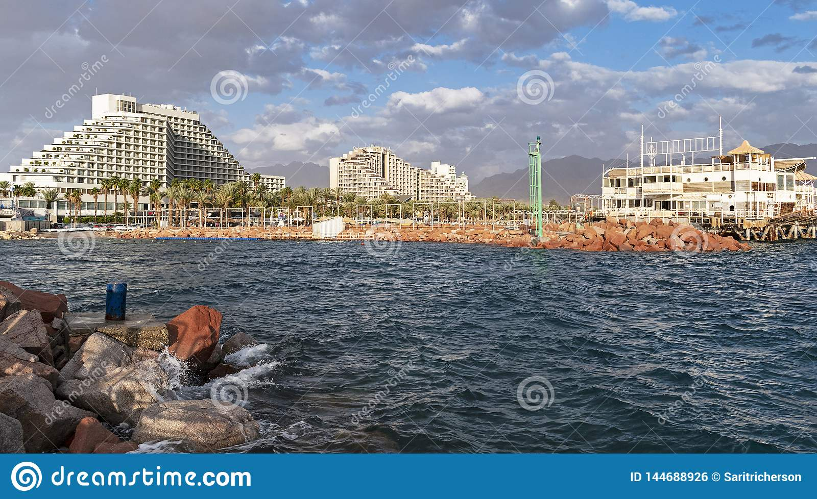 Eilat Lagoon and Hotel Zone in Israel