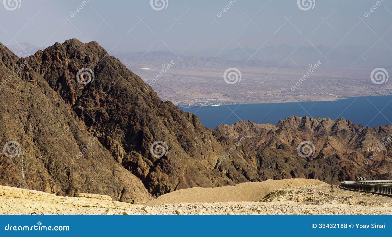 Eilat mountais Aqaba gulf