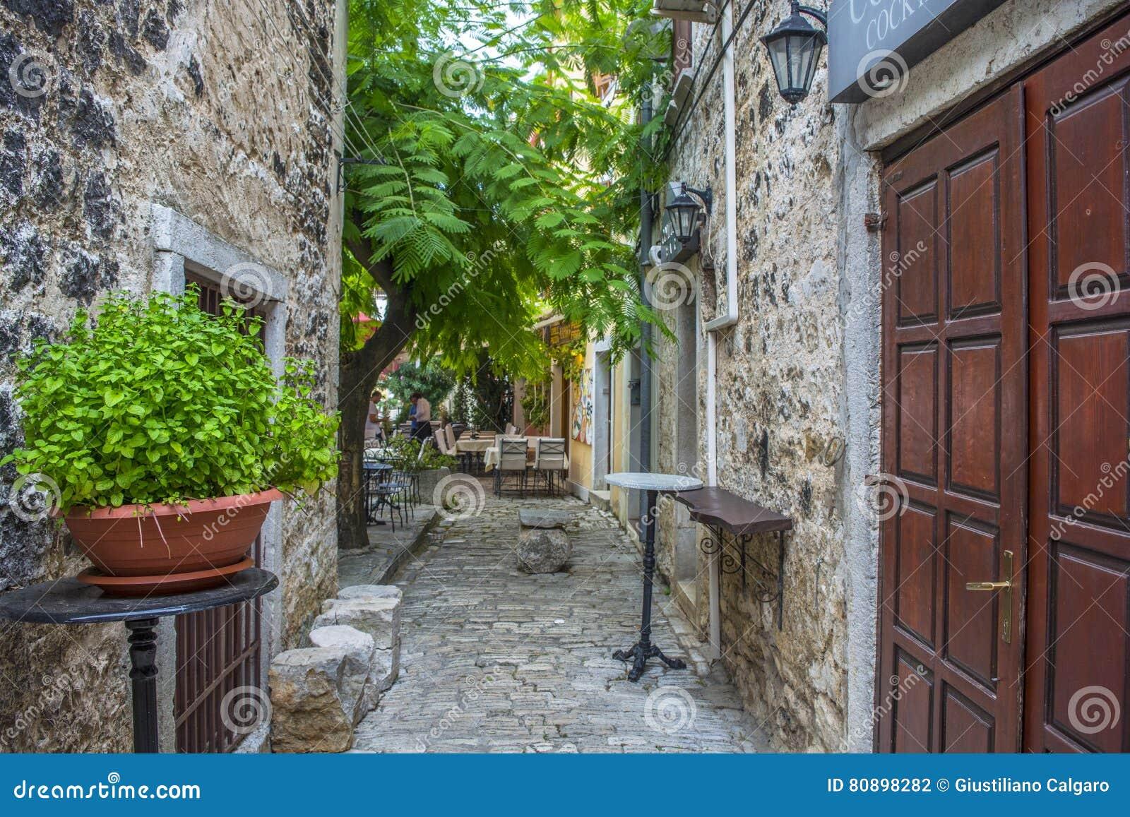 Ein altes Haus in Porec Kroatien