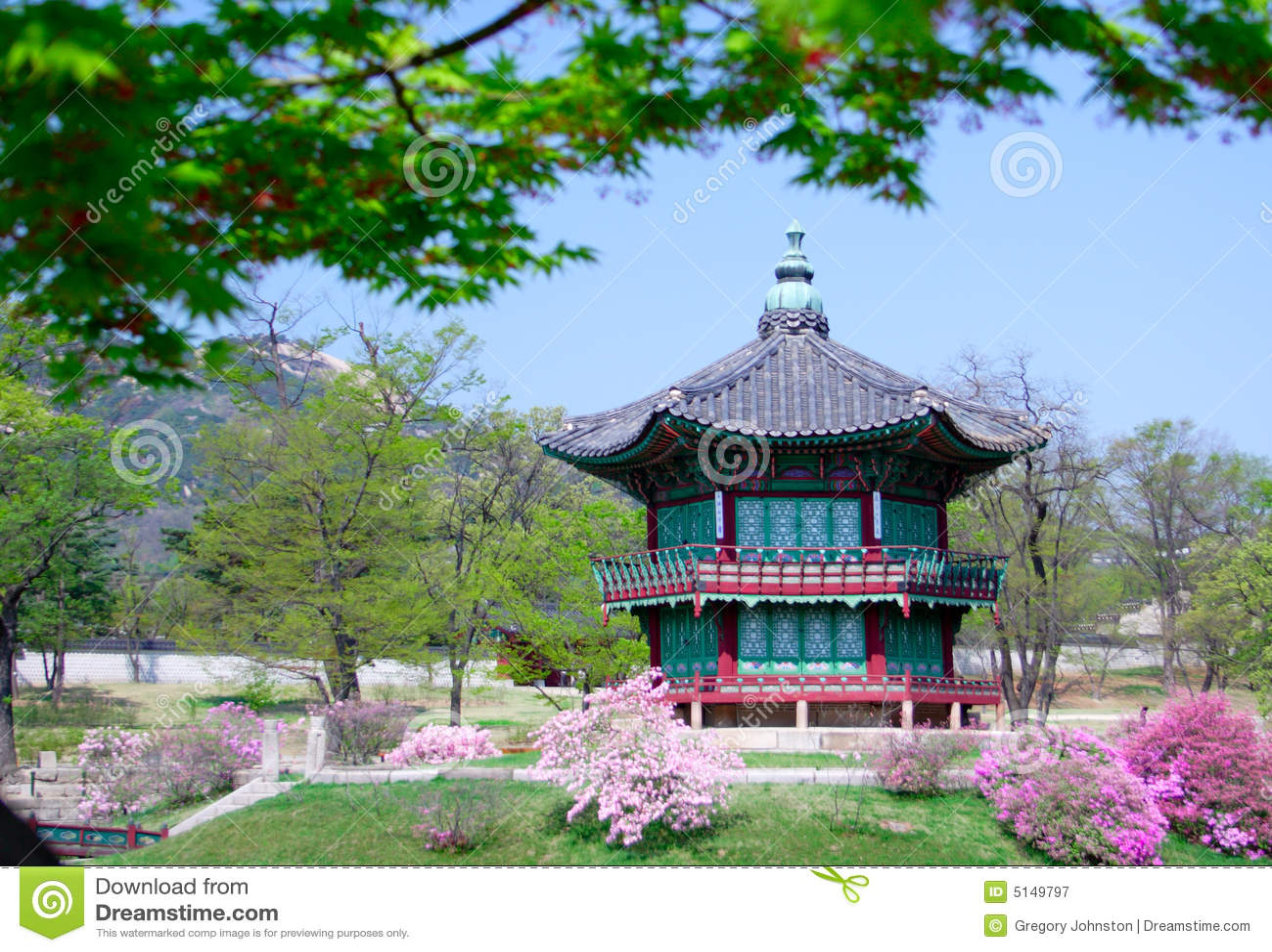 Ein altes historisches pavillion in Seoul, Korea.