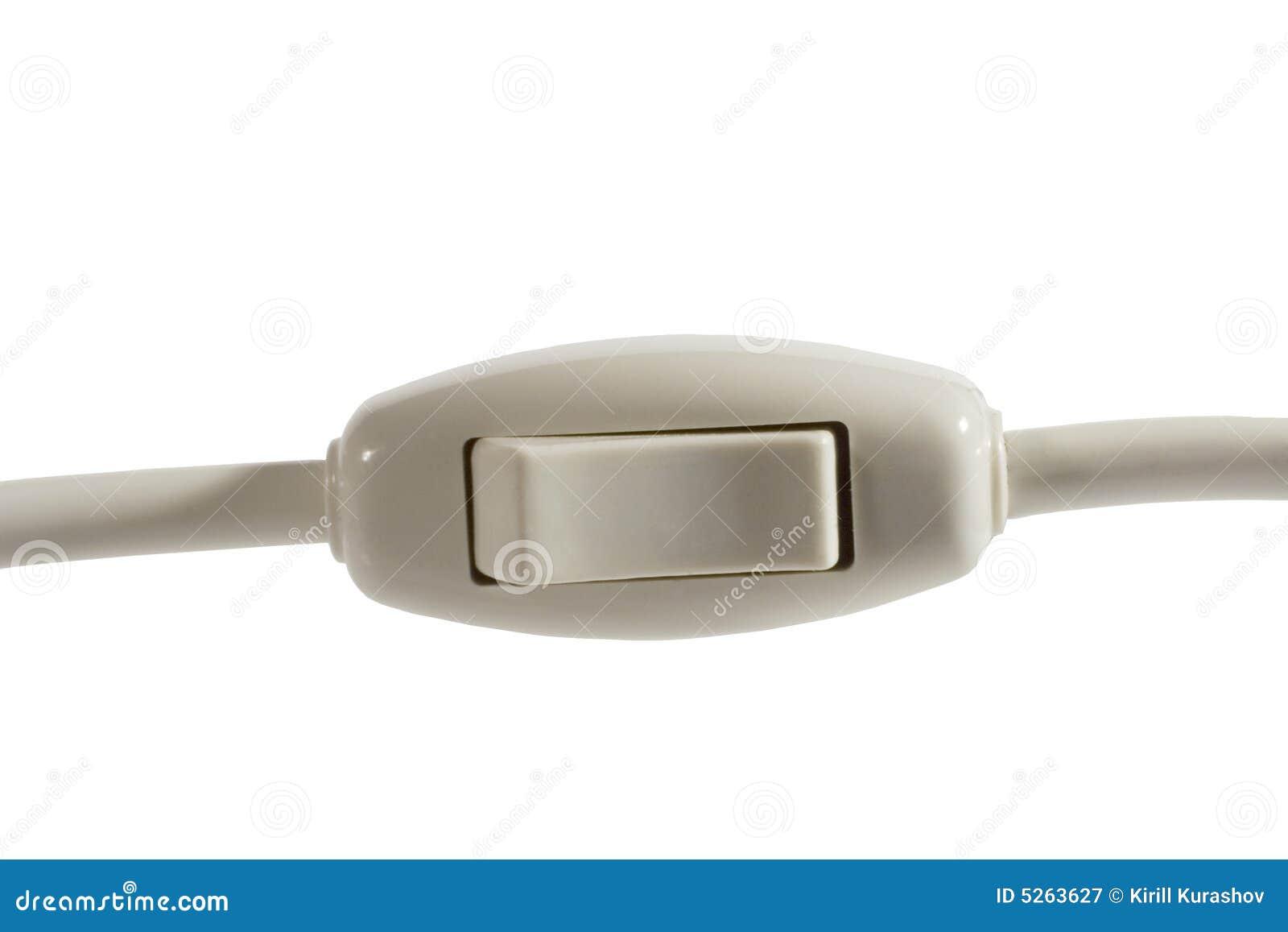 Ein/Aus-Schalter mit einem Netzkabel