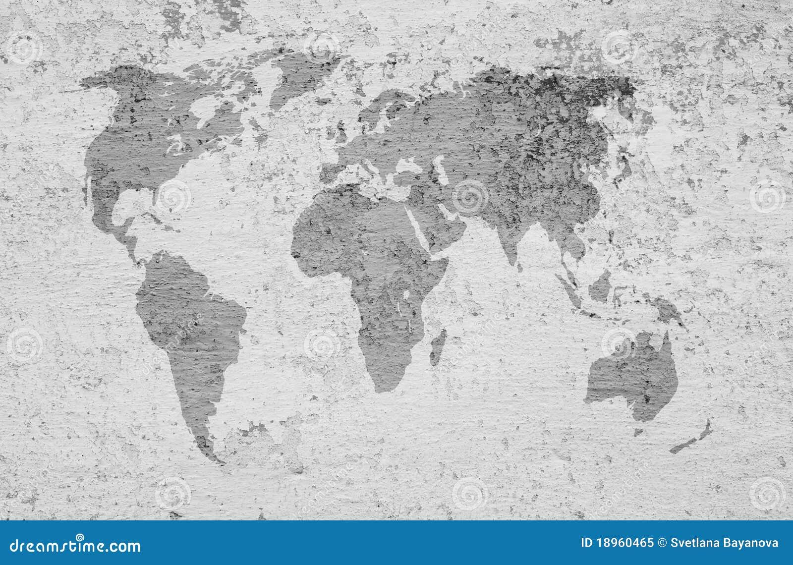 Ein Bild Einer Weltkarte Auf Einem Strukturierten Hintergrund ...