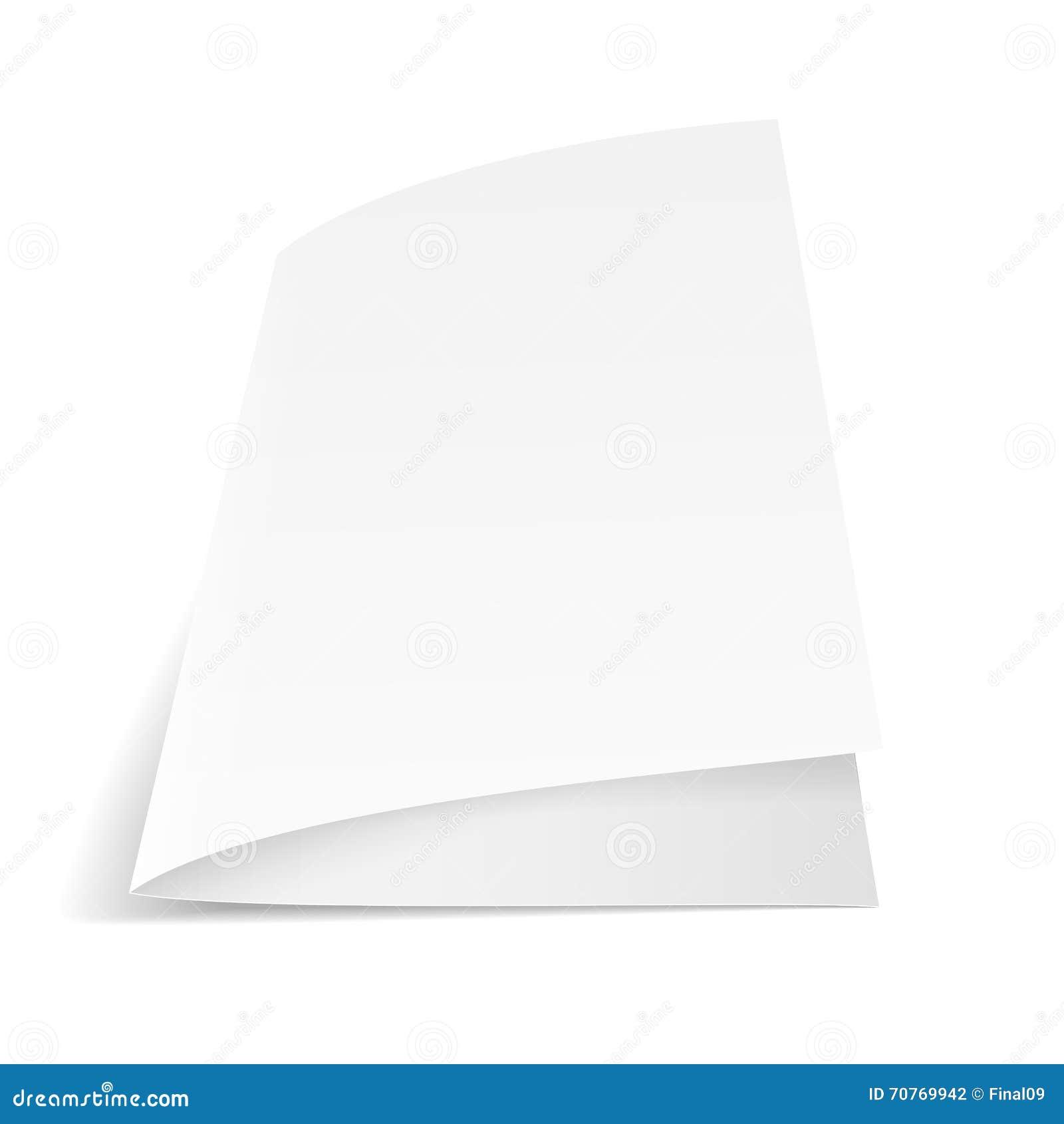 Ein Blatt Papier gefaltet zur Hälfte