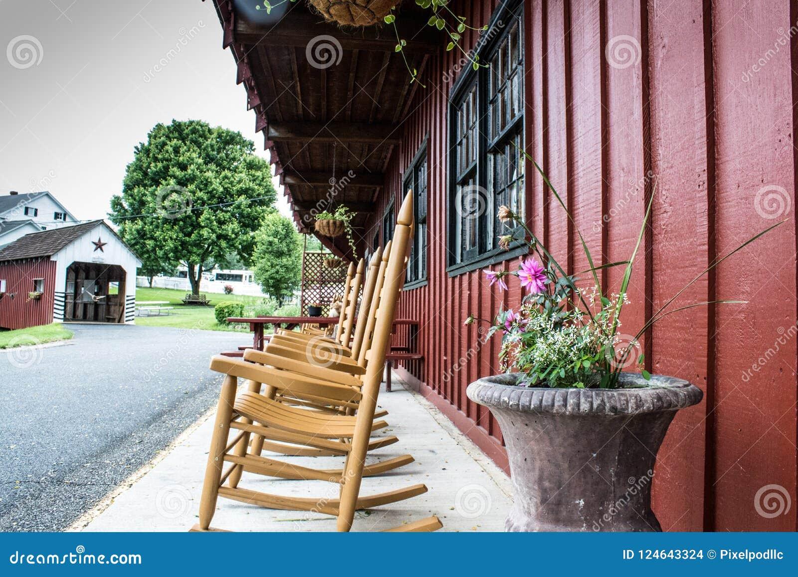 Ein Blick des traditionellen Lebensstils im amischen Dorf, Pennsylvania