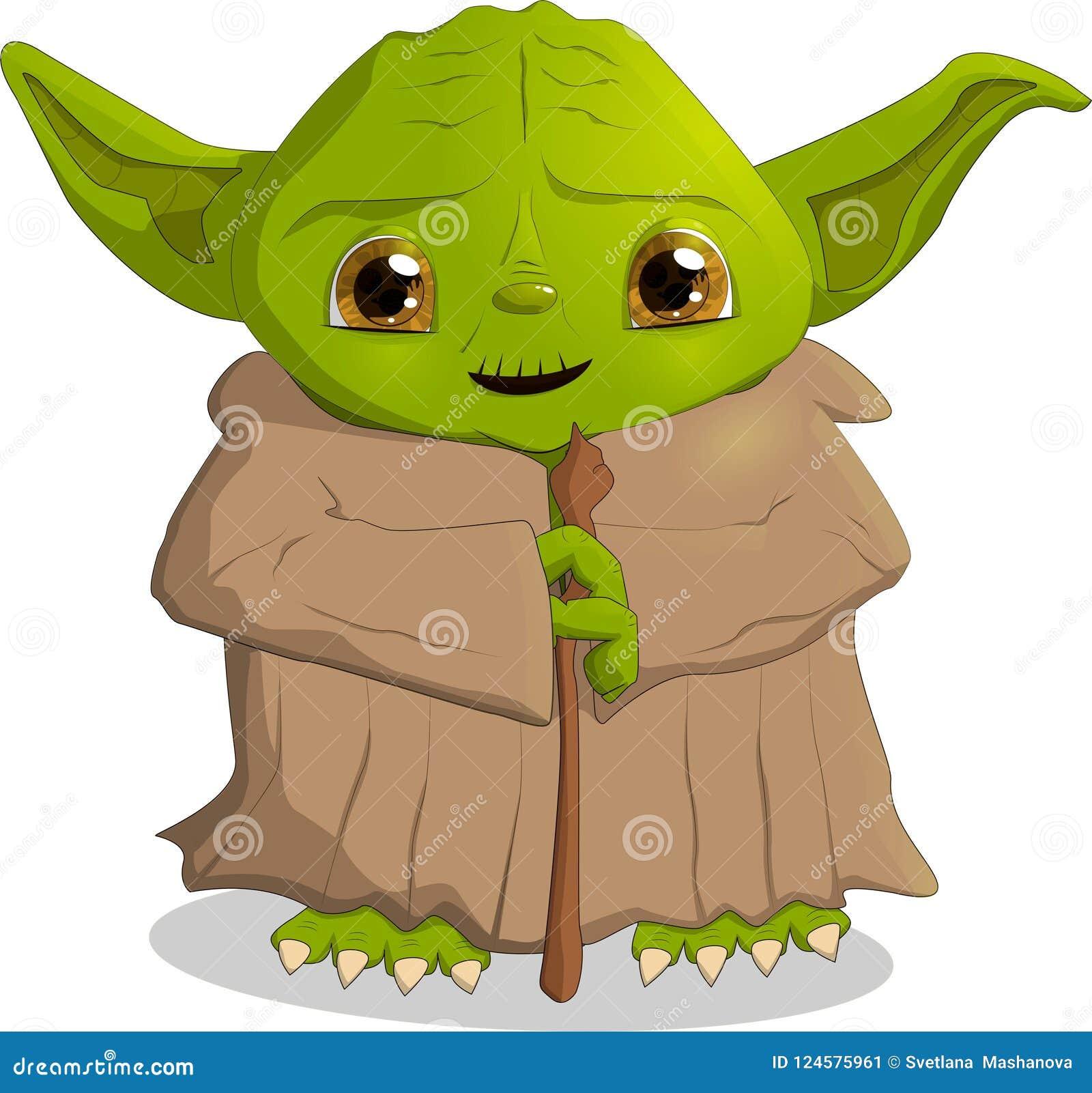 Ein Charakter von den Film Kriegen der Sterne, Yoda, Vektor des Formats ENV 10