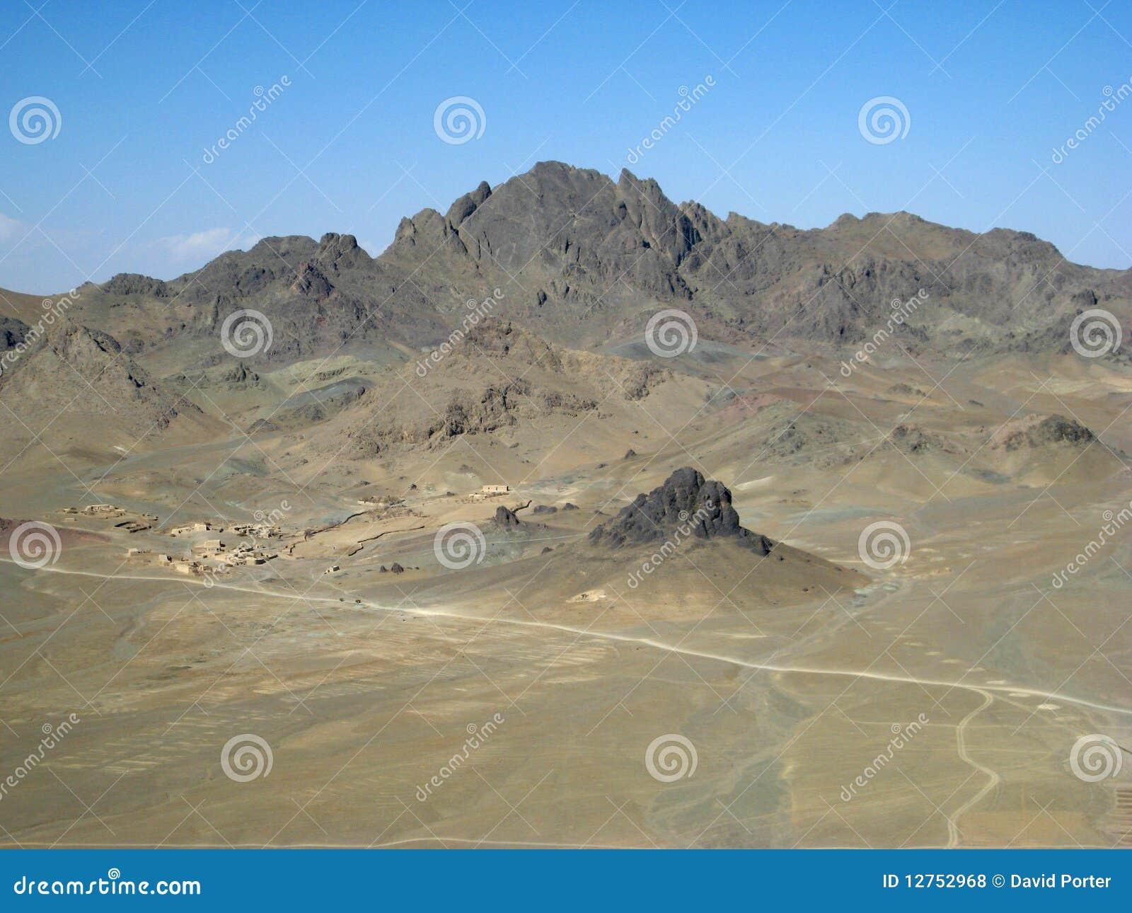 Ein Desolate Dorf in Südafghanistan
