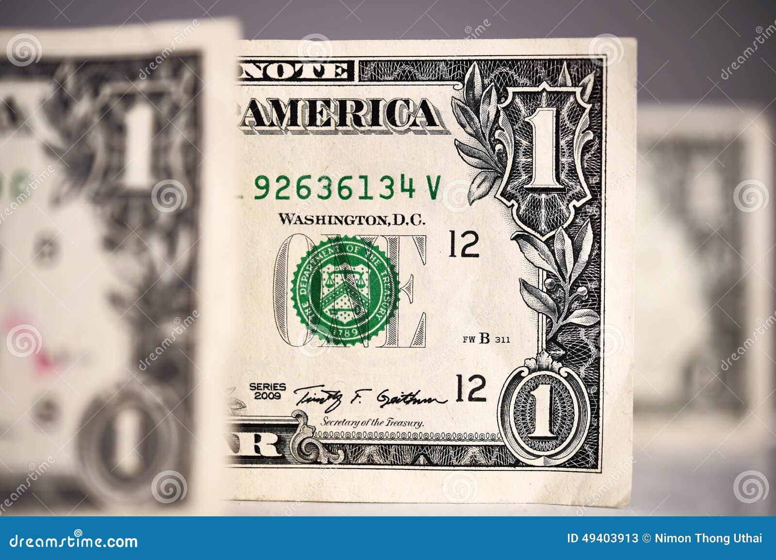 Download Ein Dollar für Hintergrund stockbild. Bild von grün, geld - 49403913