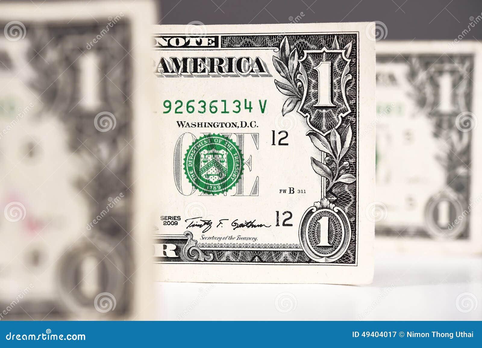 Download Ein Dollar für Hintergrund stockbild. Bild von amerikanisch - 49404017