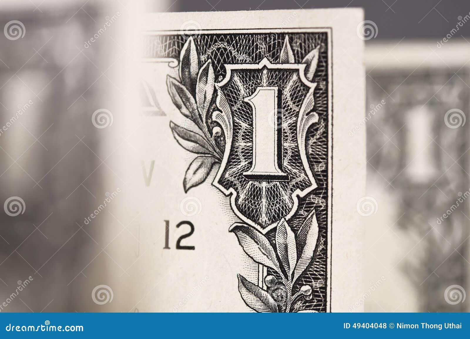 Download Ein Dollar für Hintergrund stockfoto. Bild von rechnung - 49404048