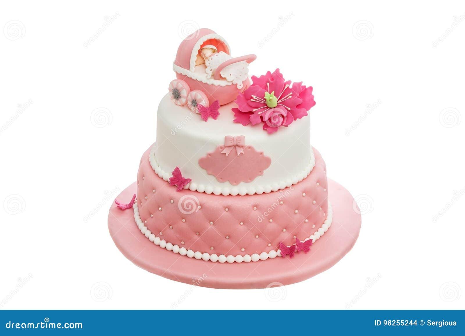Ein Erstaunlicher Kuchen Fur Taufe Fur Ein Neugeborenes Madchen Auf
