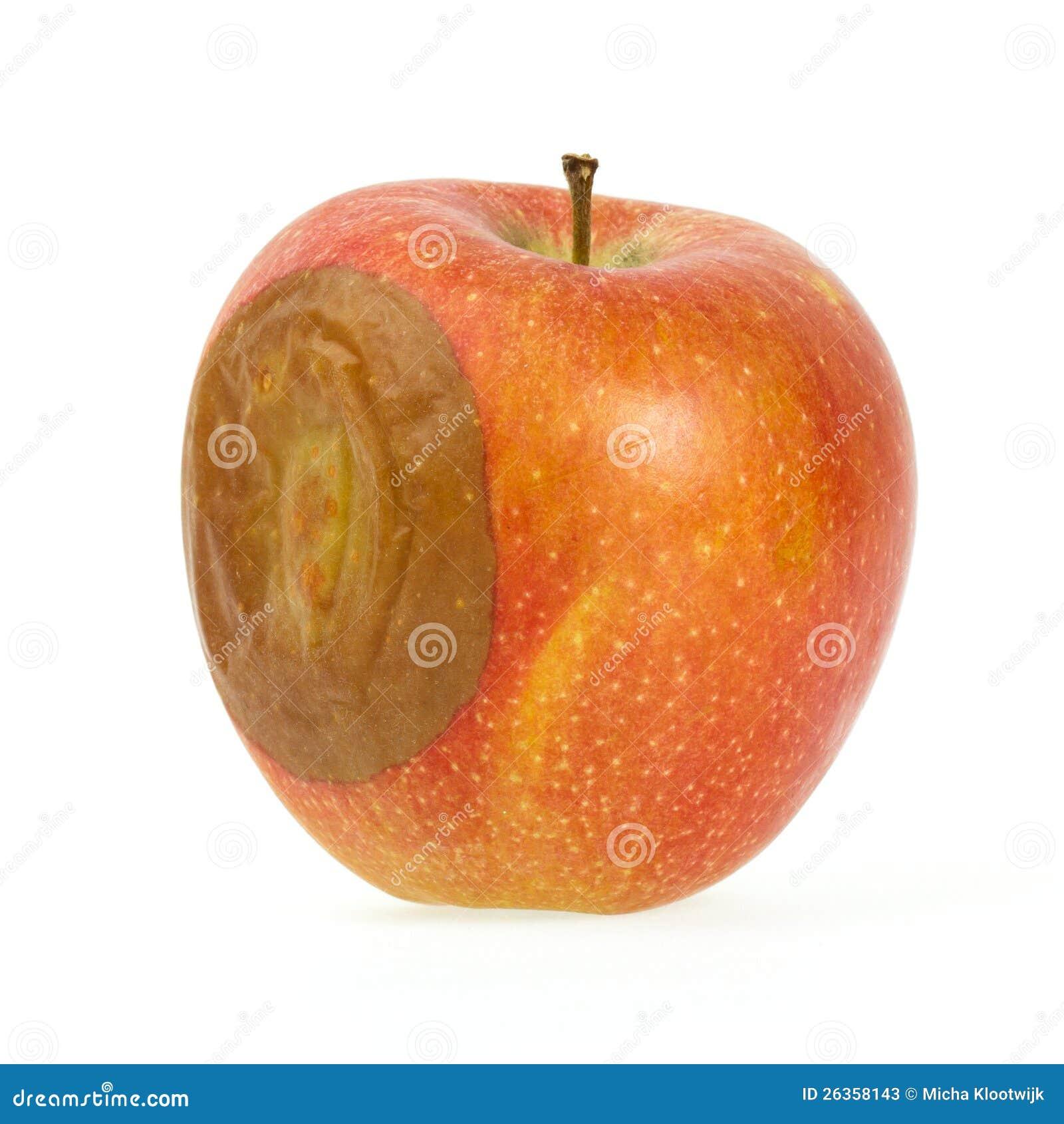 Ein falscher roter Apfel