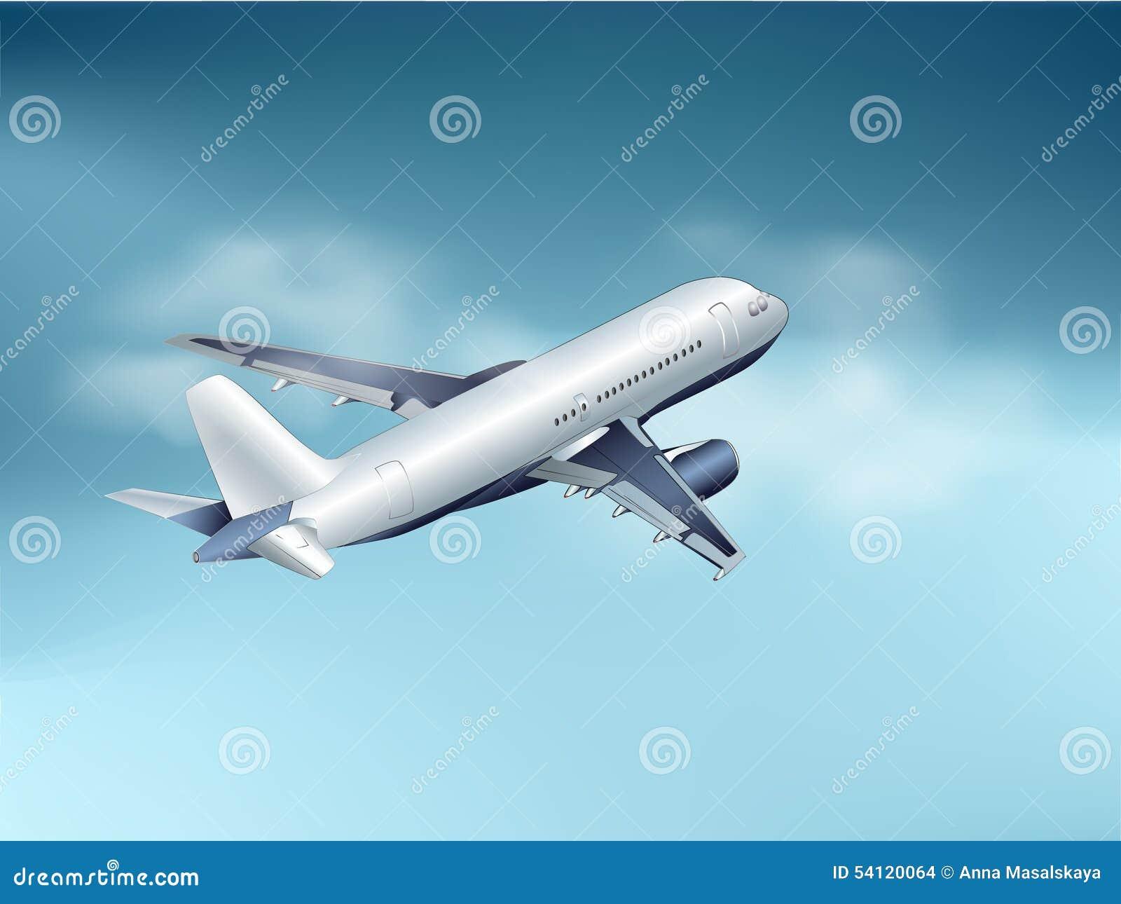 Ein Flugzeug ist in den Wolken