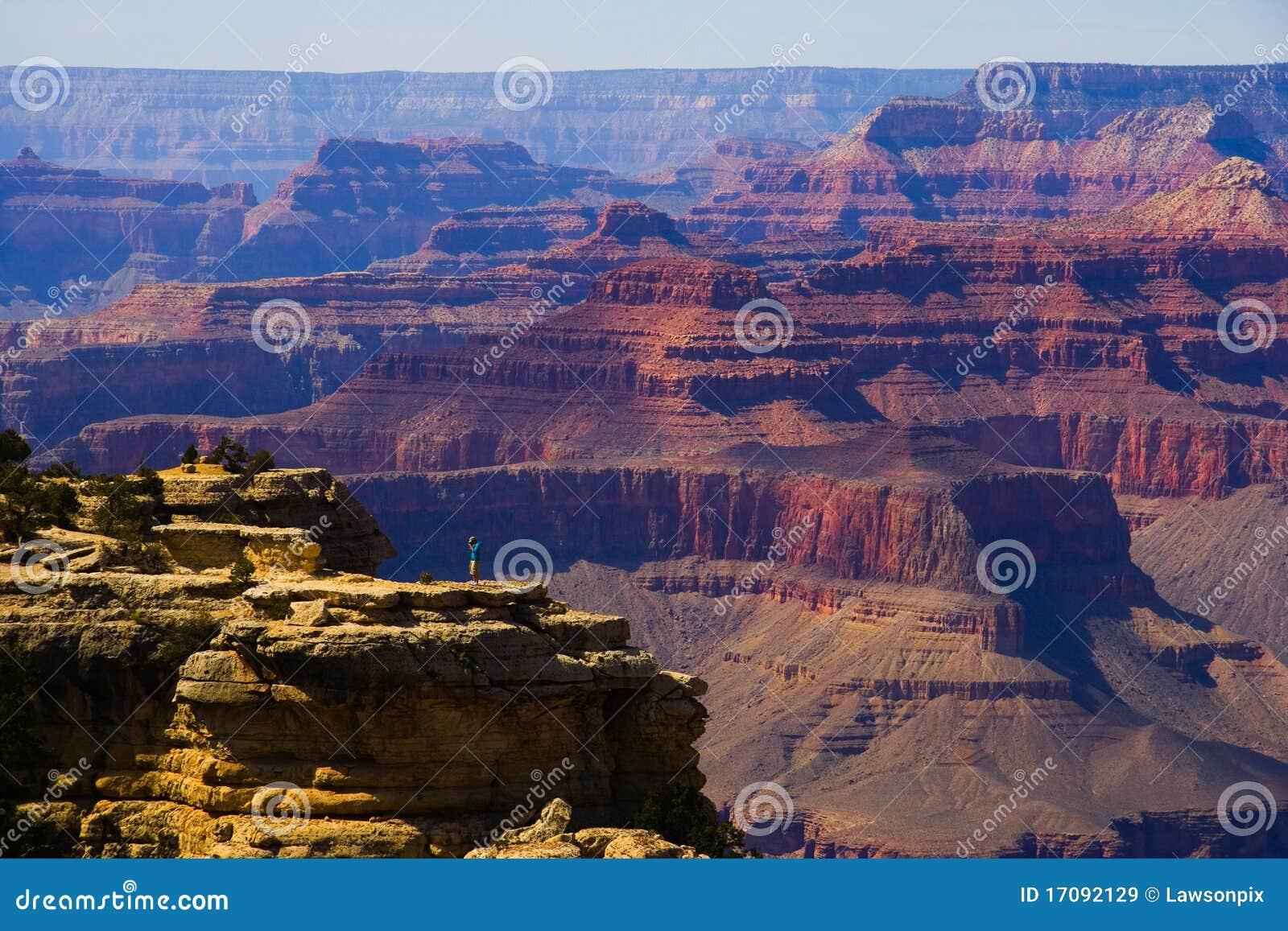 Ein Fotograf im Grand Canyon