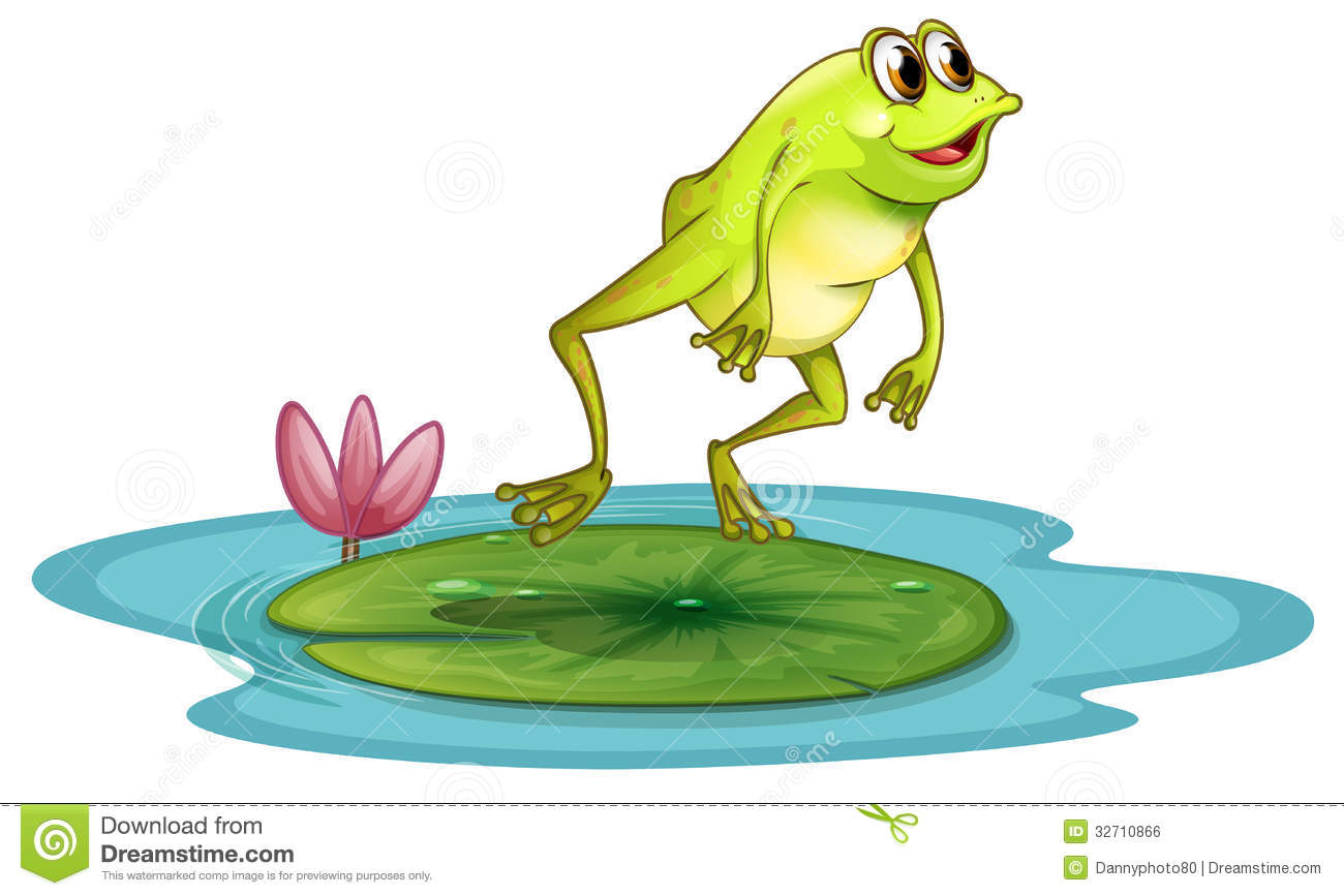 ein frosch in dem teich vektor abbildung illustration von free frog clipart black and white free frog clip art different expressional