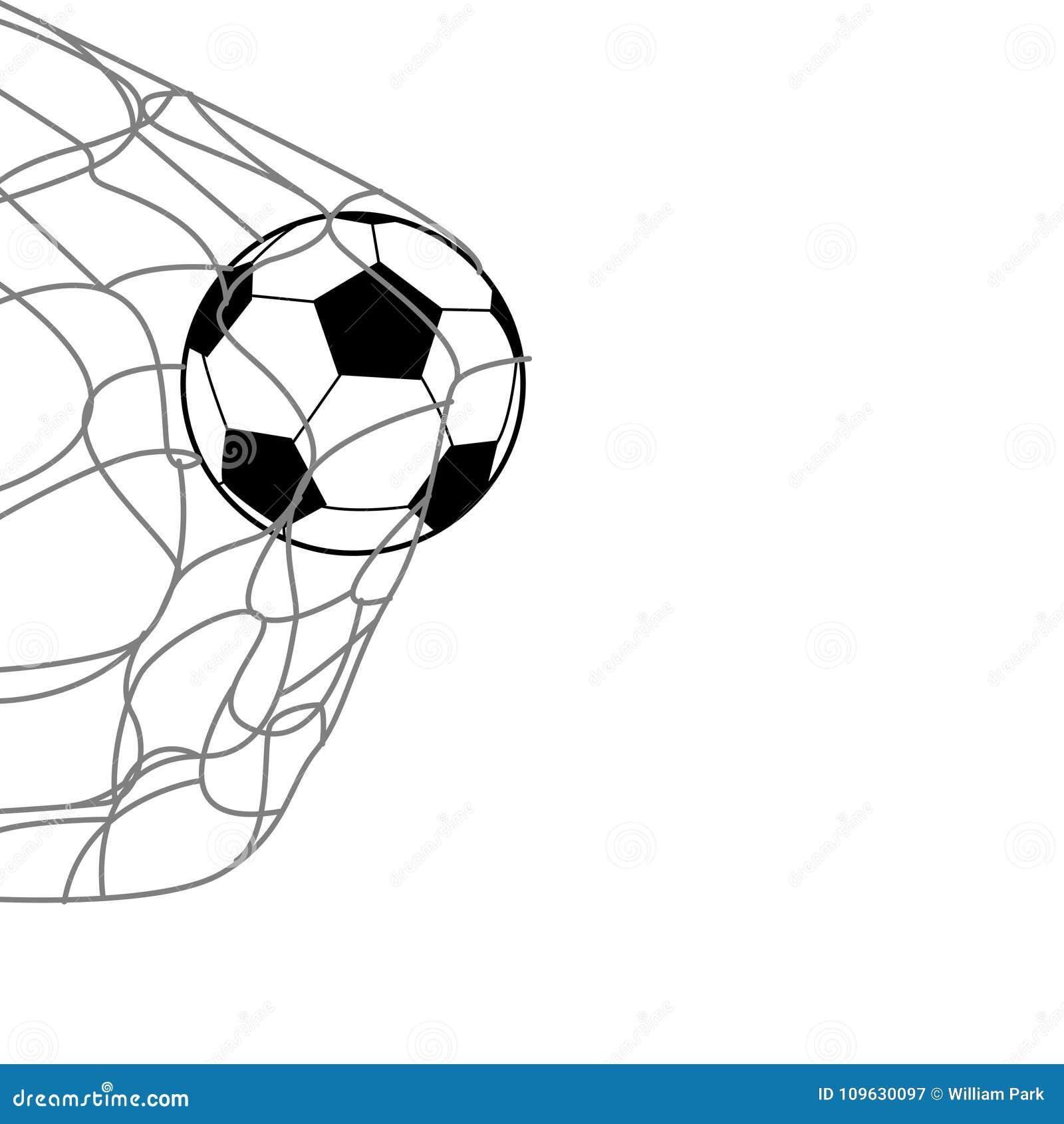 Ein Fußball auf der Rückseite des Netzes
