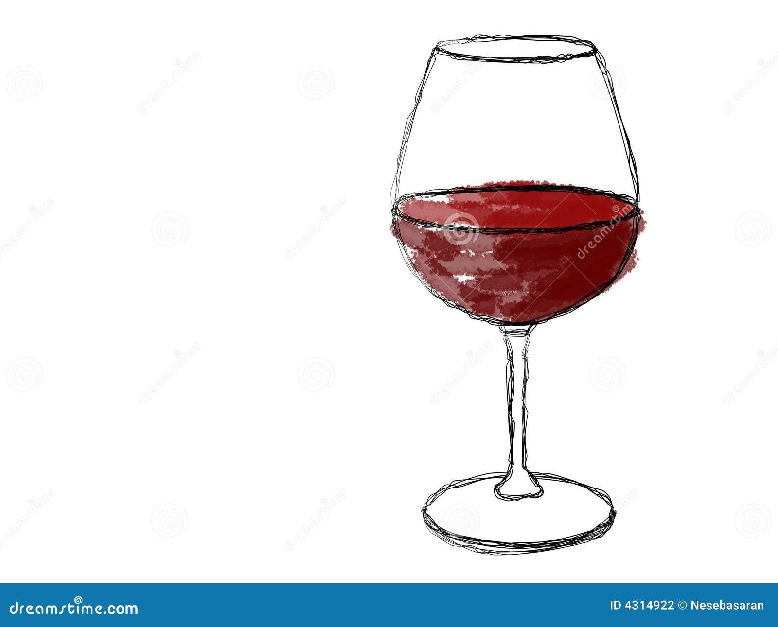 ein glas wein stock abbildung illustration von trinken. Black Bedroom Furniture Sets. Home Design Ideas