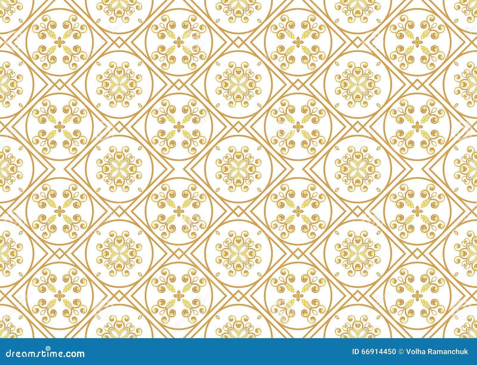 ein gold-seamlessl muster für die karte oder einladung mit islam, Einladung