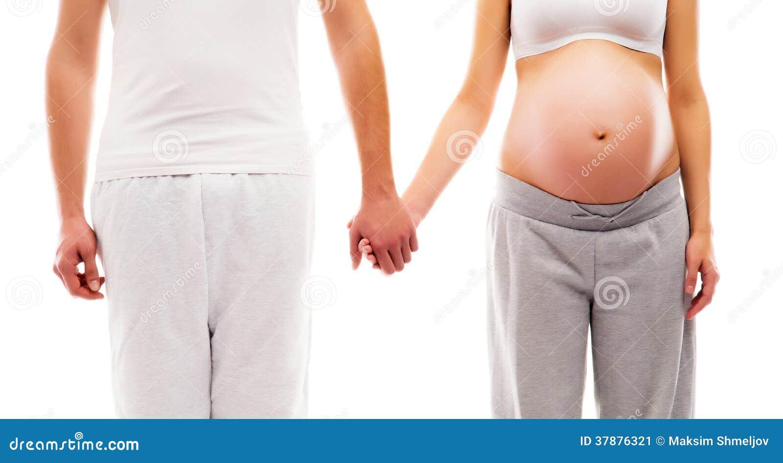 Ein junges Paar: schwangere Mutter und ein Vater